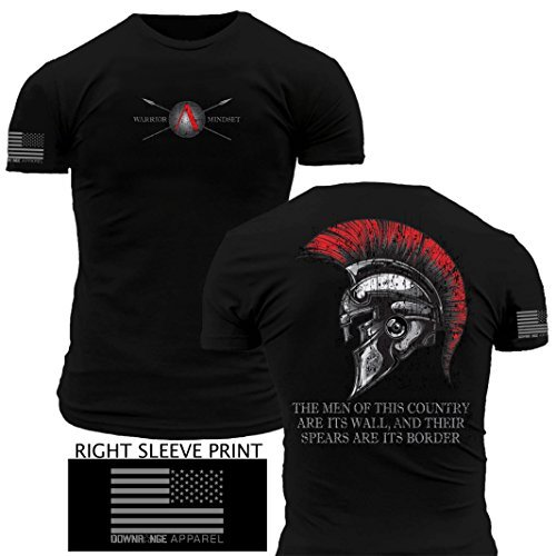Spartan Battle Helmet Warrior Mindset Premium Athletic Fit T Shirt (XL)