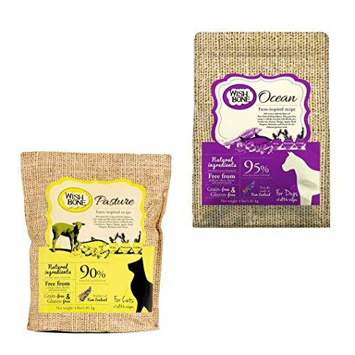 Kit: Wishbone Ocean (canino) + Wishbone Pasture sabor cordeiro (felino), 1.81kg
