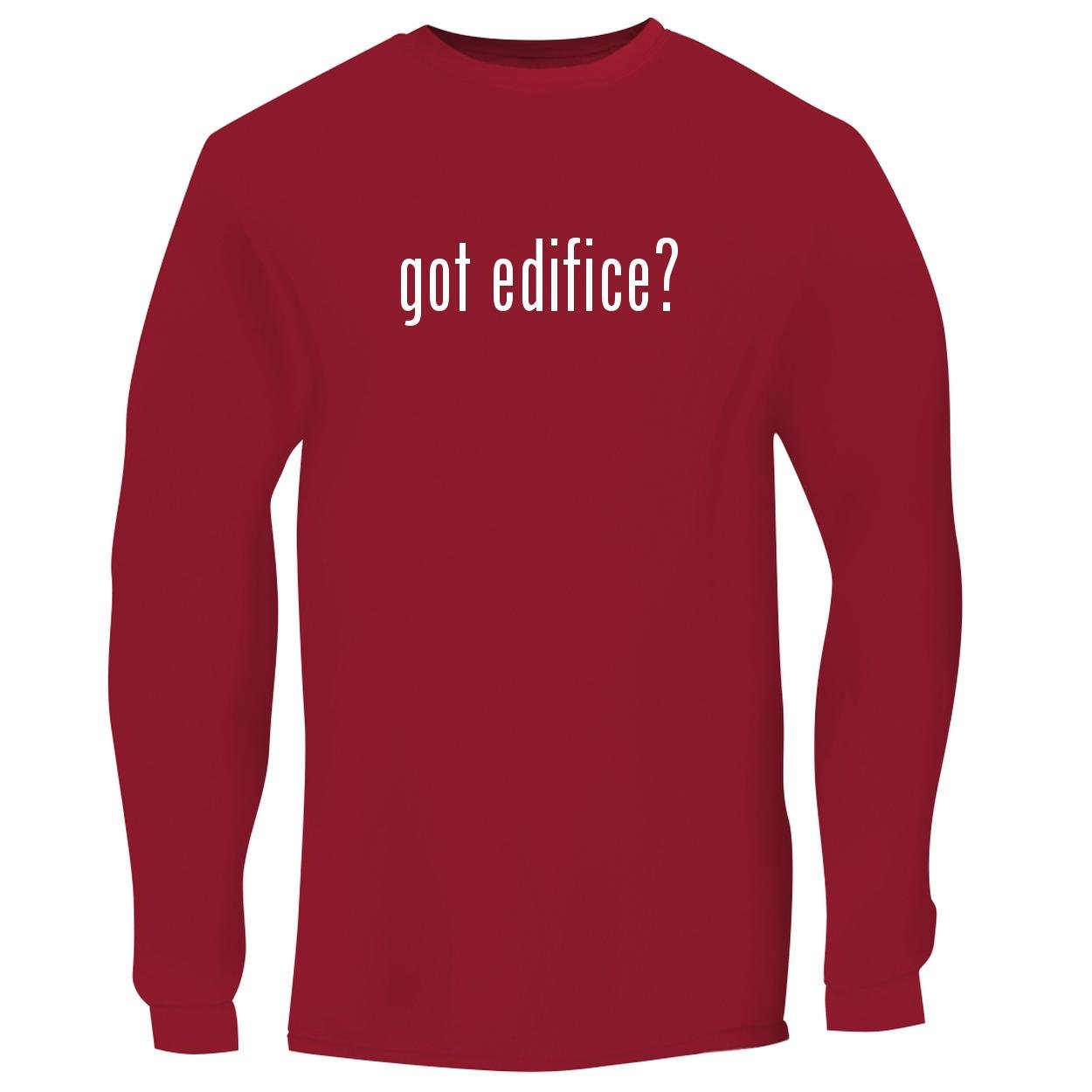 BH Cool Designs got Edifice? - Men's Long Sleeve Graphic Tee, Red, Small by BH Cool Designs