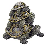 Design Toscano Three's a Crowd Stacked Turtle Statue For Sale