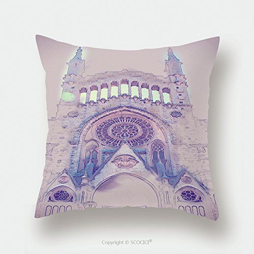 Custom Satin Pillowcase Protector The Church Of Sant Bartomeu Saint Bartholomew In Soller Majorca Spain Beautiful Gothic 497098033 Pillow Case Covers Decorative by chaoran