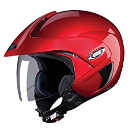 Studds Marshall Half Helmet (Cherry Red, L)