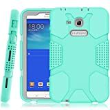 galaxy tab 3 bumper case for kids - Samsung Galaxy Tab E Lite 7.0 Case, Galaxy Tab 3 Lite 7.0 Case, Hocase Rugged Heavy Duty Kids Proof Protective Case for SM-T110 / SM-T111 / SM-T113 / SM-T116 - Mint Green / Grey