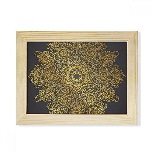 DIYthinker Thai Customs Culture Spread Gold Foil Desktop Wooden Photo Frame Picture Art Painting 6x8 inch by DIYthinker