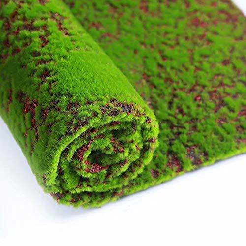 XHSP Artificial Grass Rug Fake Moss Grass Turf DIY Synthetic Turf Landscape Artificial Grass Mats Lawn Carpet for Wedding Home Backyard Patio Balcony Indoor Outdoor Decor (Coffee, 3.28x3.28 ft) (Green Rug Moss)