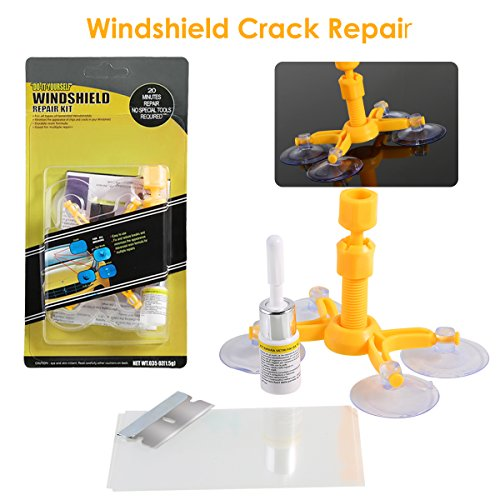 Dealpeak DIY Car Windshield Repair Kit Windshield Crack Chip Repair Tools Quick Fix DIY Auto Window Glass Scratch Repair Kits