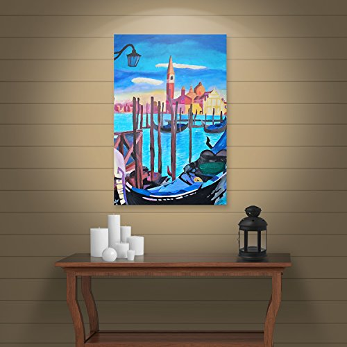 Art Wall 'Santa Monica Pier at Dusk' Gallery Wrapped Canvas Artwork by Markus Bleichner, 10 by - Park Stores Pier