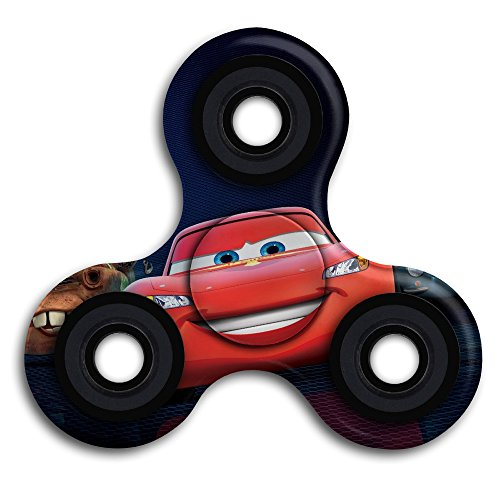 McQueen Cars Anti-Anxiety EDC Tri-Spinner Fidget Toy Hand Spinner ADHD Focus Relief Toys