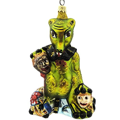 Larry Fraga SUCTION CUP Blown Glass Halloween Ornament Monster 5252