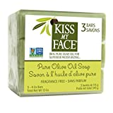 Kiss My Face Naked Pure Olive Oil Soap, Moisturizing 4 Ounce Bars, 3 Count