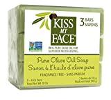Kiss My Face Naked Pure Olive Oil Soap, Moisturizing Bar Soap, 4 oz Bars, 3 Count, 12 oz Total