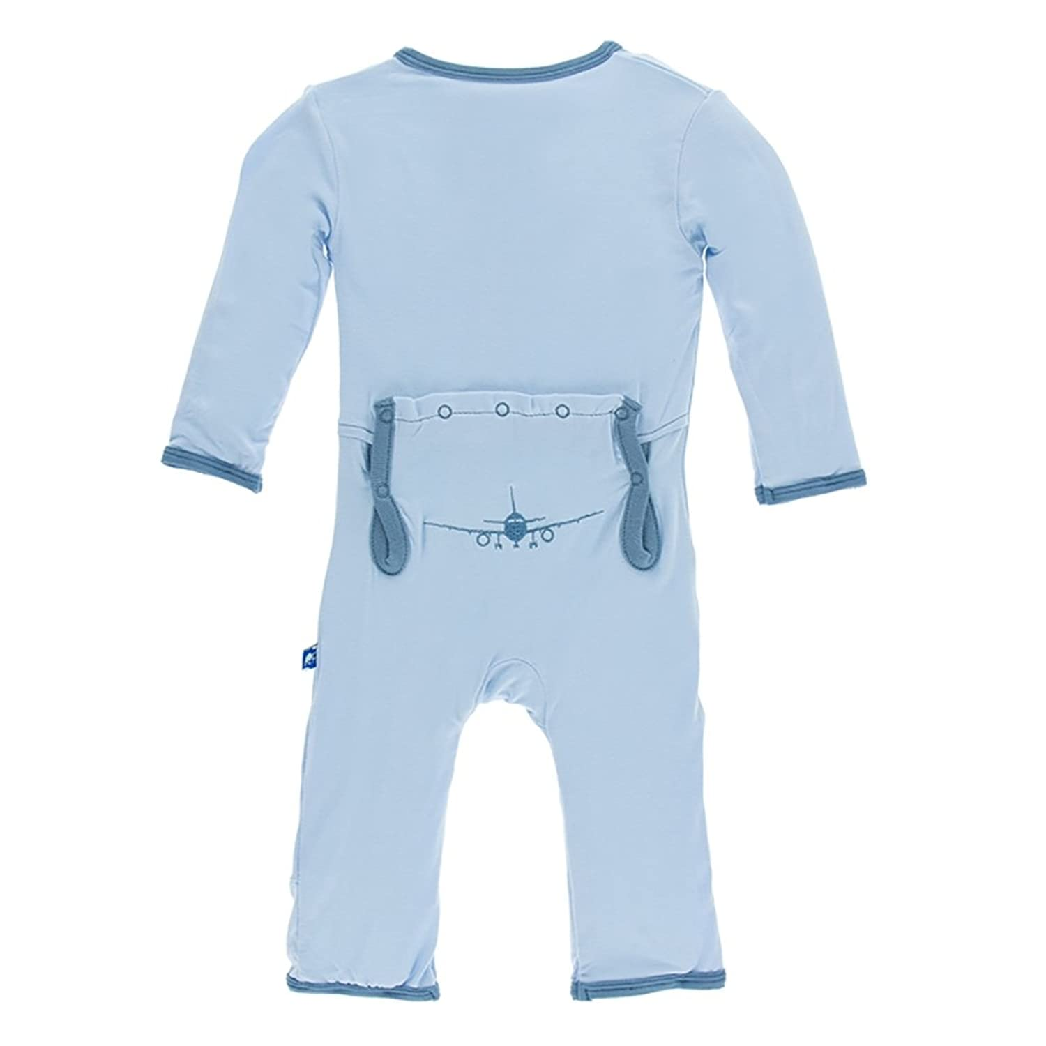 335c3b789 KicKee Pants Appliqué Coverall with Snaps Pond Airplanes 9-12 Months ...