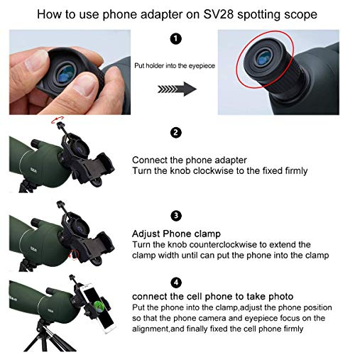 SVBONY SV28 Spotting Scope with Tripod 25-75x70mm Waterproof Angled Bak4 Prism for Target Shooting Bird Watching Hunting