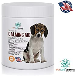 Best Advanced Dog Calming Aid. To Calm and Comfort Your Dog in Stressful Situations and Separation Anxiety.100 Soft Chews. Made in USA.