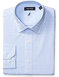 Men's Plaid Spread Collar Dress Shirt