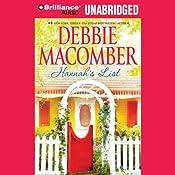 Hannah's List: A Blossom Street Book, #7 | Debbie Macomber