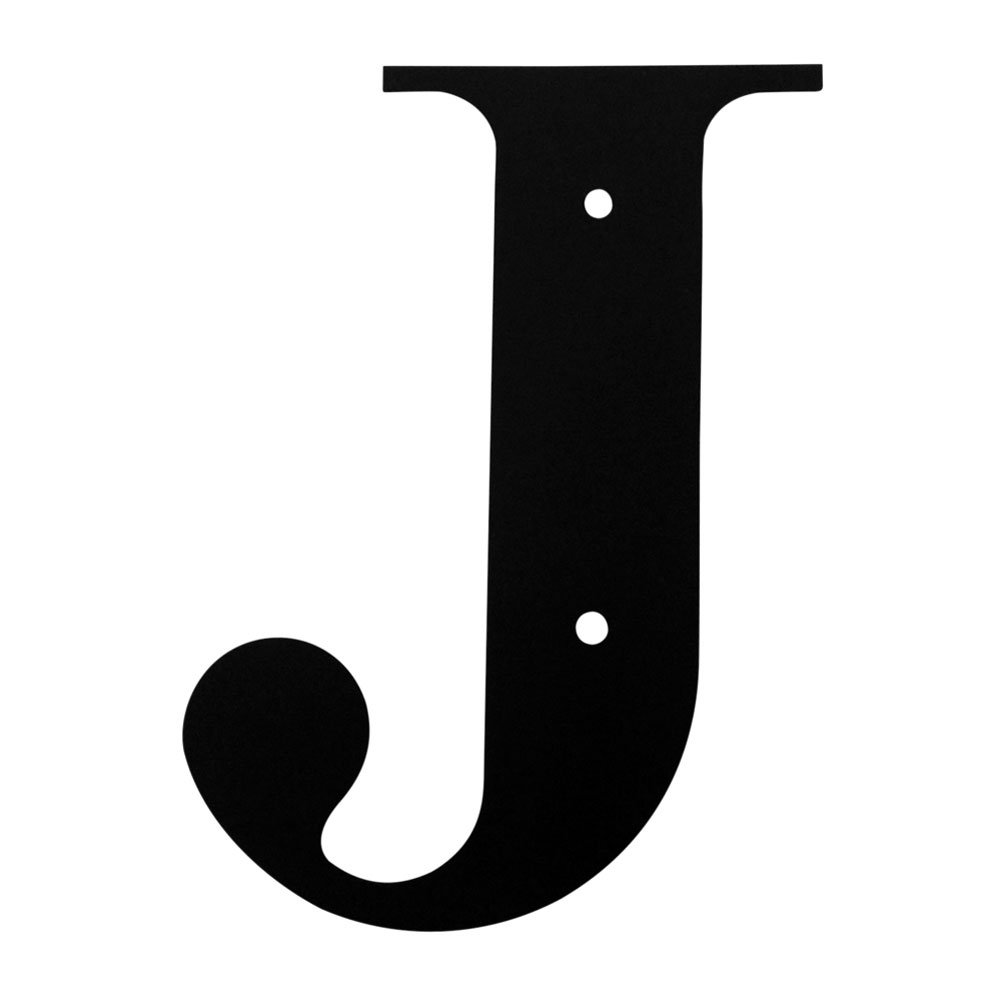 Iron Address Letters House Letter J 18'' - Heavy Duty Metal House Numbers and Letters, House Signs