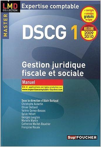 Livres Gestion juridique fiscale et sociale DSCG 1 : Manuel epub pdf