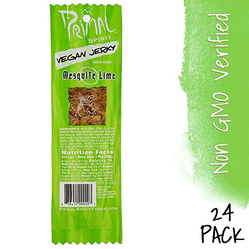 Primal Spirit Mesquite Lime Meatless Jerky, 1 oz, 24ct - Meatless Vegan Jerky
