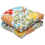 Cheap Pillow Perfect Outdoor Spring Bling Wicker Seat Cushion, Multicolored, Set of 2