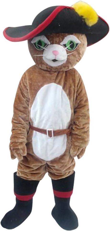 cosplaydiy mascota para el gato con botas – Carcasa de gato de ...