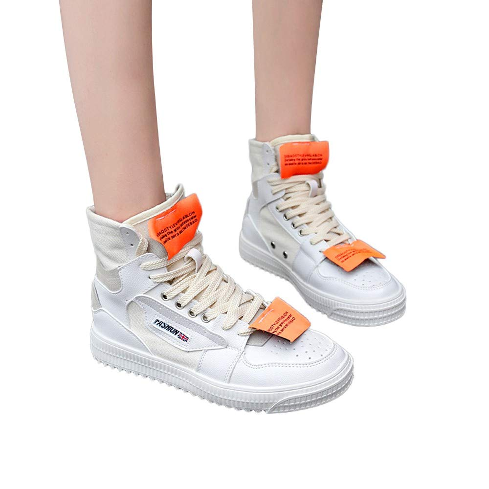 NEARTIME Promotion❤️Women's Shoes, Fashion Women's Street Dance High-Top Shoes Flat Student Hip-Hop Shoes