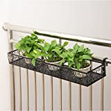 BJLWT Wall Hanging Flower Stand Balcony Home Garden Decor Display Rack Plant Storage Shelf Organizer (Color : Black, Size : 602012cm)