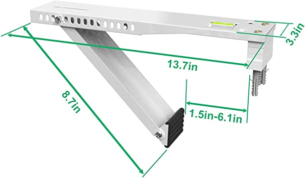 Forestchill Universal Air Conditioner Window AC Support Bracket,Light Duty Up to 175lbs,Fits for 9,000 to 22,000 BTU A//C Units