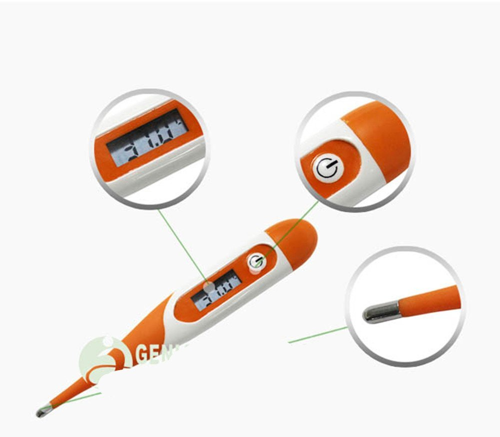 Thermomètre Clinique CE Thermomètre Oral, axillaire et rectale thermomètre est un thermomètre médical numérique Thermomètre fièvre pour enfants et adultes bébé 10sec affichage Healthy Living Celsius & Fahrenheit GENIAL T15S