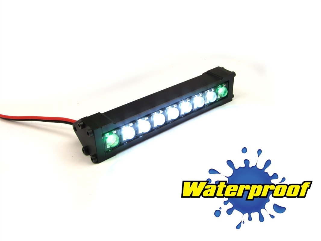 Gear Head RC 1/10 Scale Terra Torch 3'' LED Light Bar - White and Green