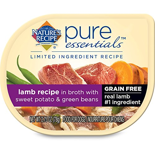 Nature's Recipe Pure Essentials Grain Free Lamb Recipe in Broth (24 Pack), 2.75 oz