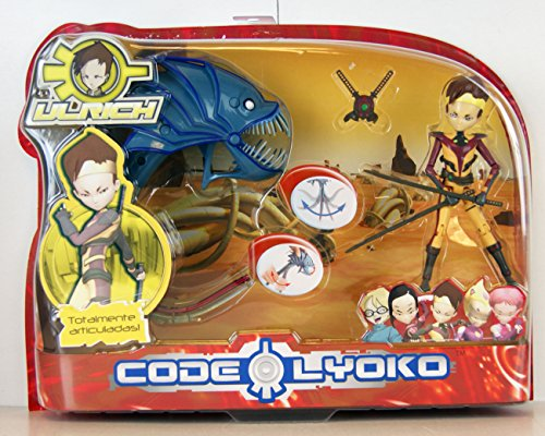 """Code Lyoko - ULRICH (Virtual) with Swords & Konger with flexible tail - 5"""" articulated figure from Code Lyoko"""
