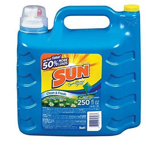 Sun Ultra Concentrated Clean & Fresh Liquid Laundry Detergent, 250 Fl. oz Jug (1)