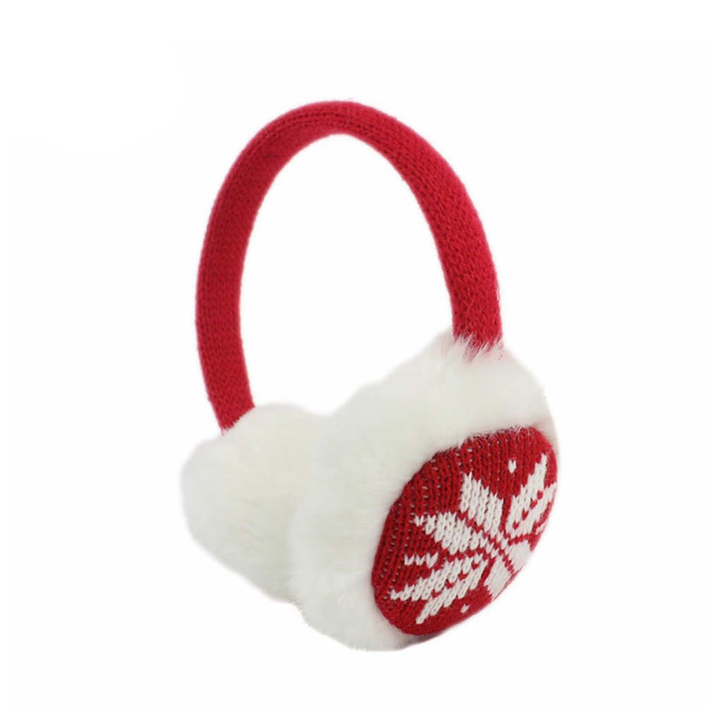 Girls Women Short Plush Soft Winter Knit Ear Muffs Plush Earmuffs Portable Ear Fluffy Warmer Earmuff Headband TT-1118-4