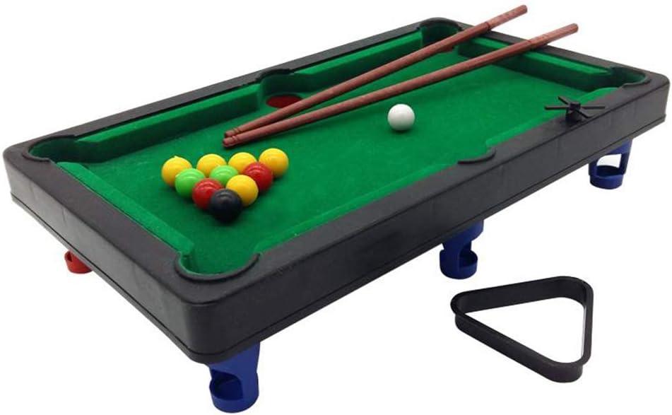 Mesa de Juegos para niños, Mini Billar de Madera con 15 Bolas de ...