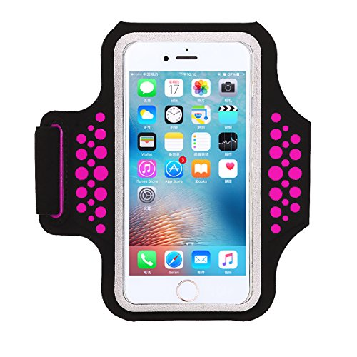 Armband for iPhone 8 7 6S 6, for all 4.7-5.2 inch Smartphone, HAISSKY Lycra Sports Running Armbands for Samsung Galaxy S7 S6 S6 Edge S5 Arm Band Case, Exercise, Gym, Jogging, Hiking, Biking, Walkout