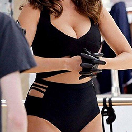 Die schwarze Mastkennzeichnung Split weibliche Taille durchbohrt Bikinis Badeanzug Verband Badeanzug 4xl SqluTnG6lP