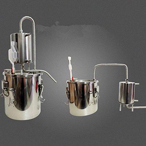 New 2/5/8 Gallon 10/20/35L Moonshine Still Water Essential Oil Boiler Spirits Distiller Alcohol Wine Making Thumper Keg Brew Kit