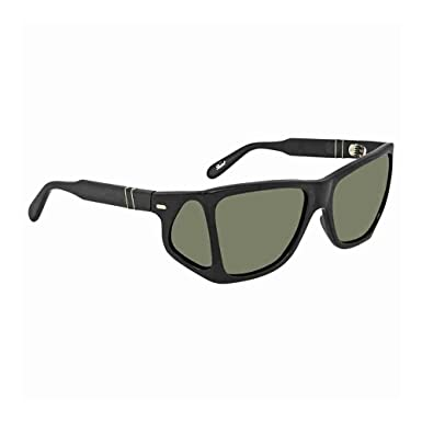 570a04aa1dc Image Unavailable. Image not available for. Color  Persol Men s PO0009  Sunglasses Black Crystal Green 57mm