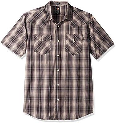 YUNY Men Long Sleeve Solid Casual Business Turn-Down Collar Woven Shirt Black XS