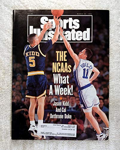 (Jason Kidd - The California Golden Bears dethrone Duke - Sports Illustrated - March 29, 1993 - Bobby Hurley - College Basketball - SI)