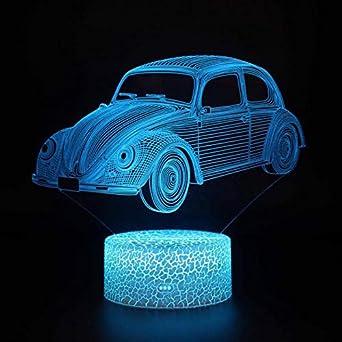 Supercar Lámpara de mesa Ferrari / 7 colores Cambio de lámpara de ...