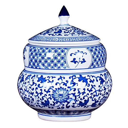 - QINYA,Cremation Urn for Ashes-Funeral Urn for Human Ashes,Hand Made in Blue and White Porcelain and Hand Engraved,Medium Urns Deal (Blue and White)