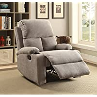 ComfortScape Reclining Loveseat Sofa Chair for Living Room, Gray Linen