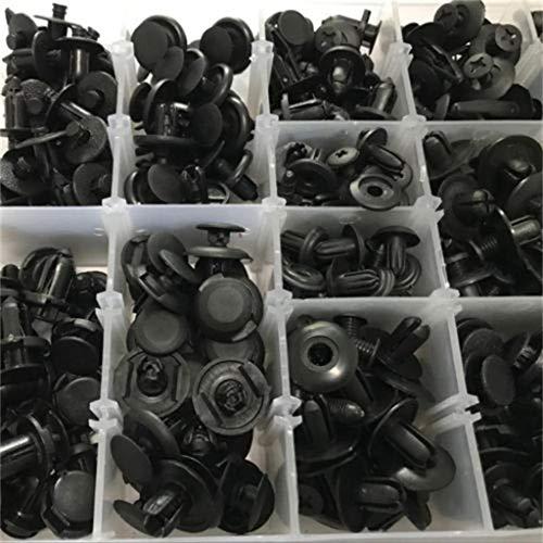 clips de recorte de coche con juego de tornillos de fijaci/ón gratis clips universales de nailon negro remaches de pl/ástico 620 piezas 16 tama/ños de clips de carrocer/ía de coche