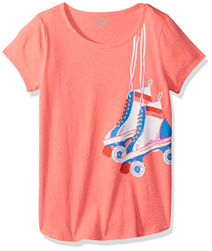 Crazy 8 Girls' Little Short Dolman Sleeve Graphic Tee, Coral Roller Skates, - Clothing Girl Skate
