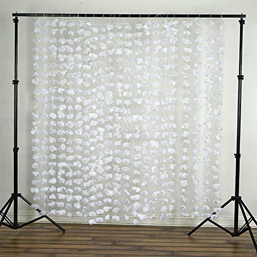 Mikash 72 x 72 Flowers Backdrop Curtain Wedding Party Photo Booth Home Decorations   Model WDDNGDCRTN - 7  