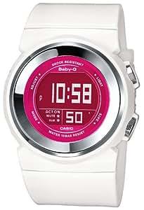 CASIO Baby-G BGD-100-7BER - Reloj de mujer de cuarzo, correa de resina color blanco (con alarma, cronómetro, luz)