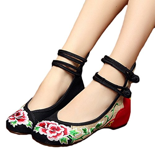 AvaCostume Womens Chinese Embroidery Loafers