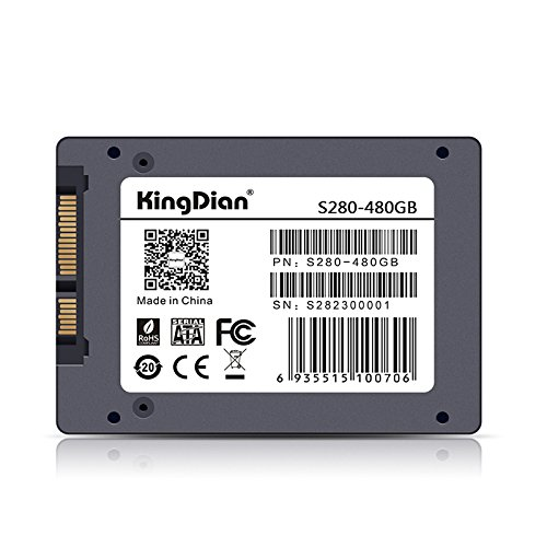 KingDian 480GB 512GB with 512M Cache 2.5 inch SATA3 SSD for Laptop Desktop PCs and MacPro POS Game Advertising machine Thin client Router (S280 480GB) by KINGDIAN